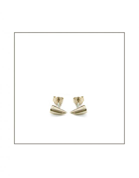 Silver Paper Stud Earrings