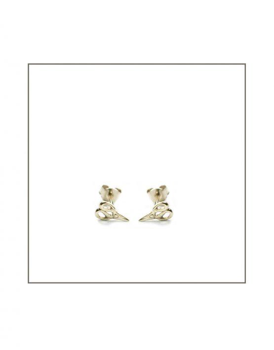 Silver Scissor Stud Earrings