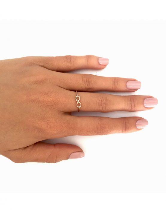 Infinity Rose Gold Ring
