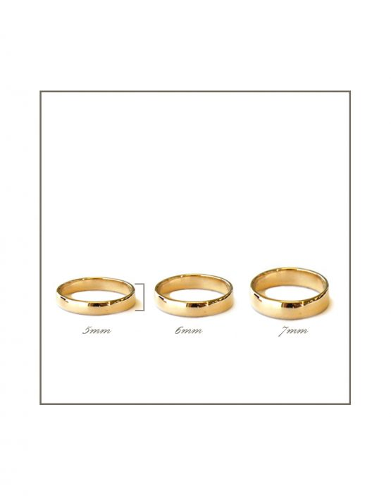 18ct yellow gold gents rings 5-7mm