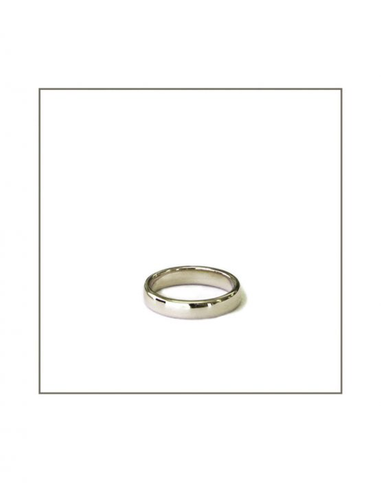 9ct White Gold Gents Ring