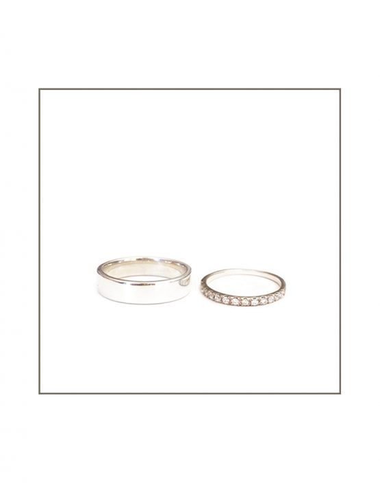 Classic Set - His & Hers Polished Bands