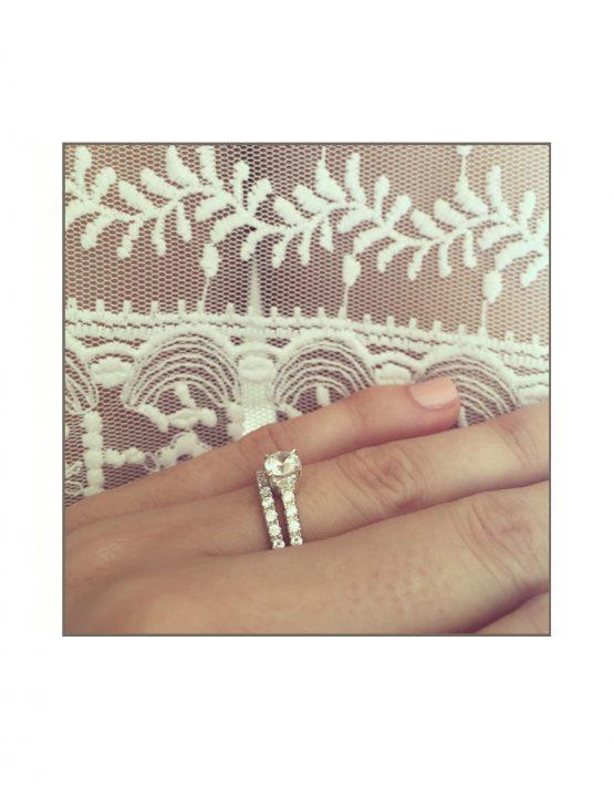Classic Daimond Engagement Wedding Set Styled