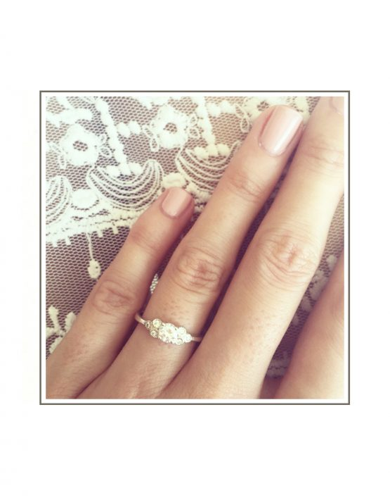 Cluster Diamond Ring Styled