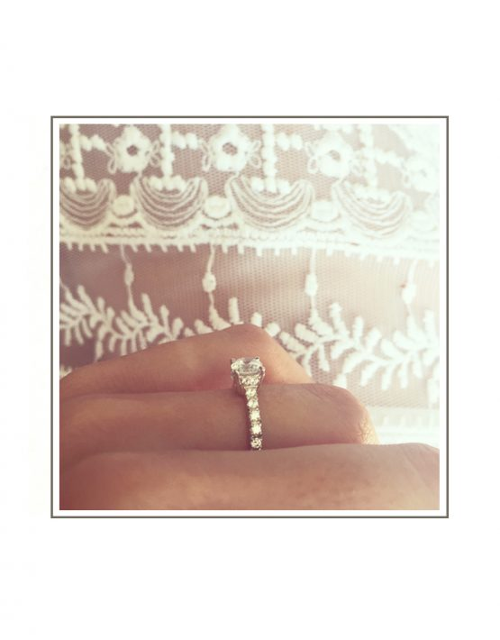 Solitaire Diamond Engagement Ring Styled Side