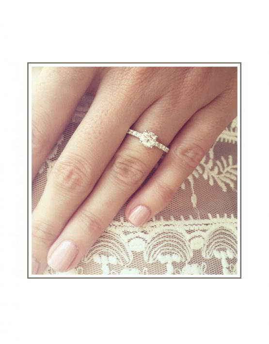 Solitaire Diamond Engagement Ring styled