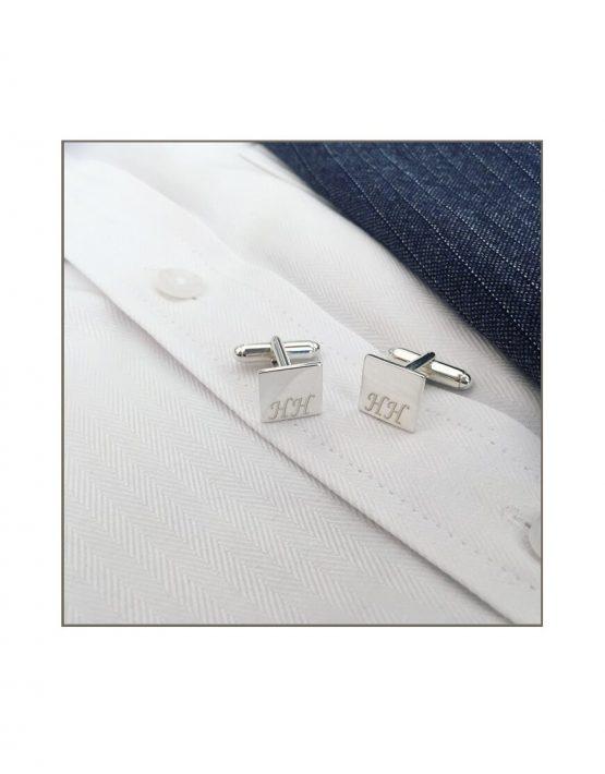 Silver Gents Cufflinks HH
