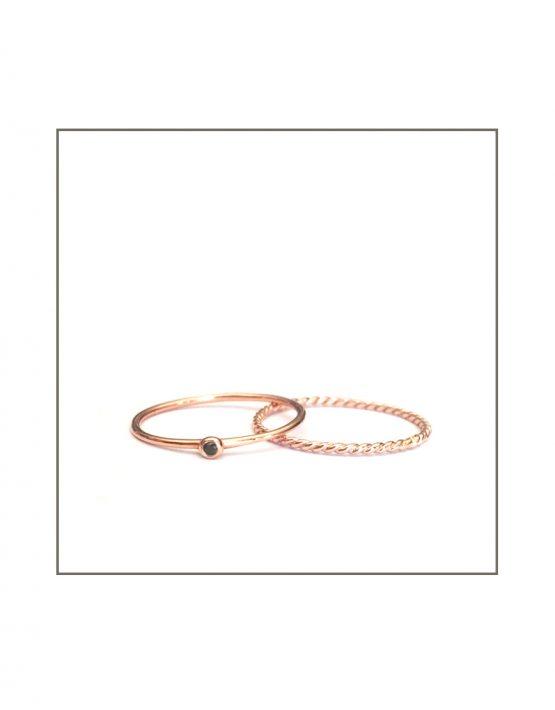 rose-gold-black-diamond-spec-twist-ring-set