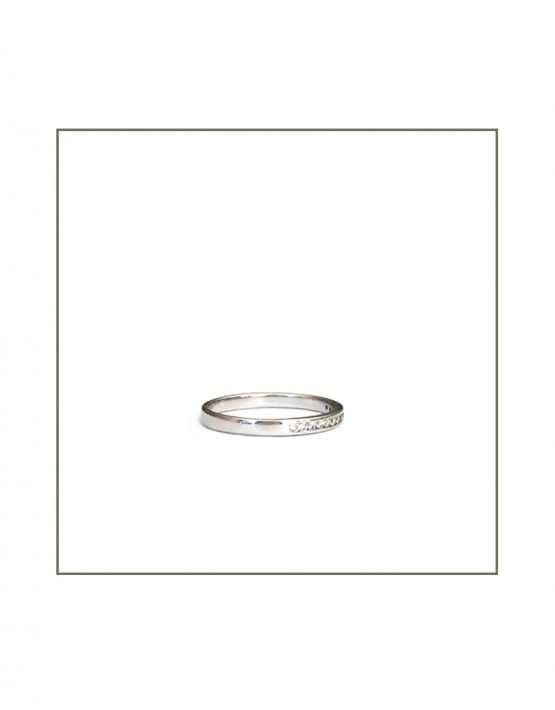Channel Set White Gold Diamond Ring Side