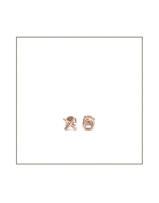 Rose Gold XO Stud Earrings