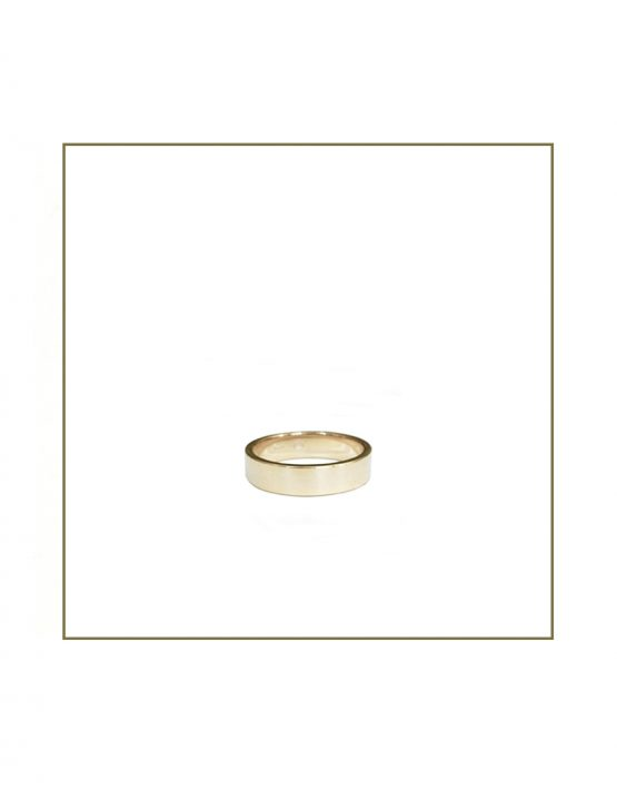 6mm gents white gold flat band
