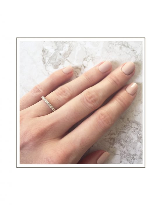 0.015ct 9ct White Gold Micro Band Two