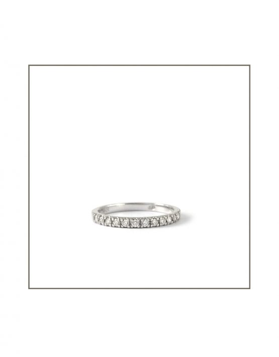 0.015ct White Gold Diamond Micro Band