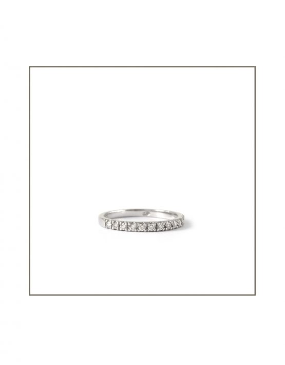 0.015ct White Gold Micro Band Side