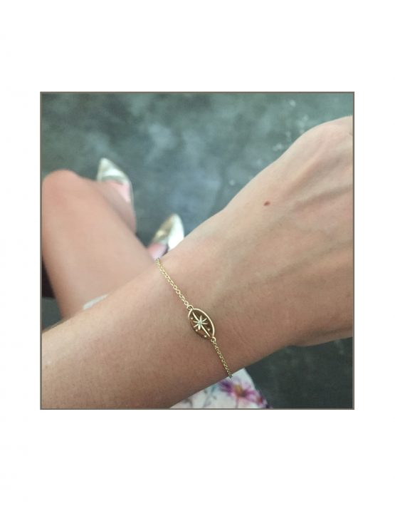 Yellow Gold North Star Bracelet Styled