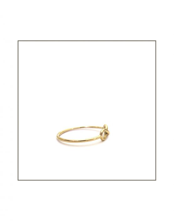 Infinity Ring - Yellow Gold Side