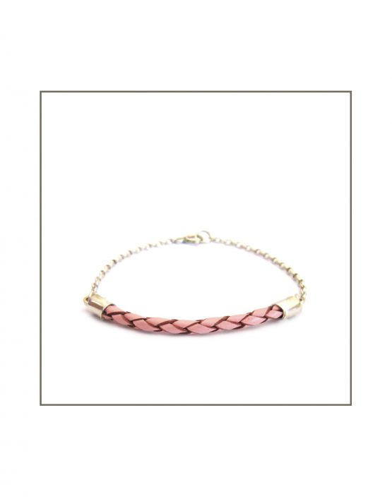 Leather-ette -Pink Woven