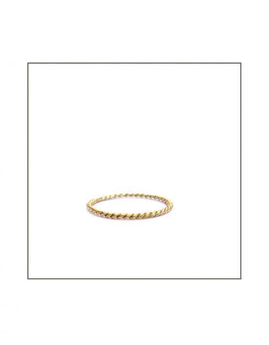 Yellow Gold Twist Ring