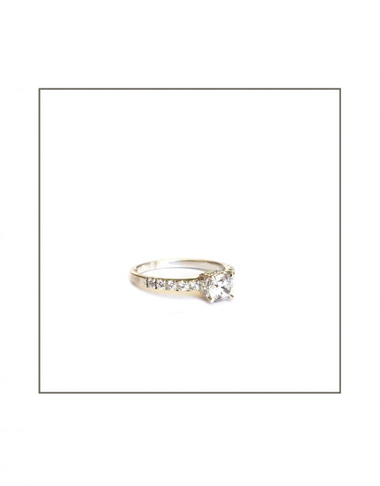 Diamond Solitaire Engagement Ring Side