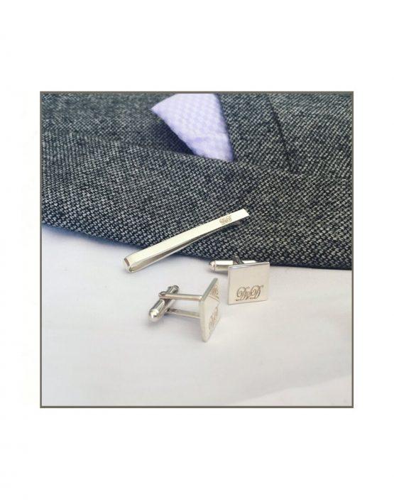 Gents Tie Bar & Cufflink Set