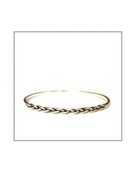 Plaited Silver Bangle