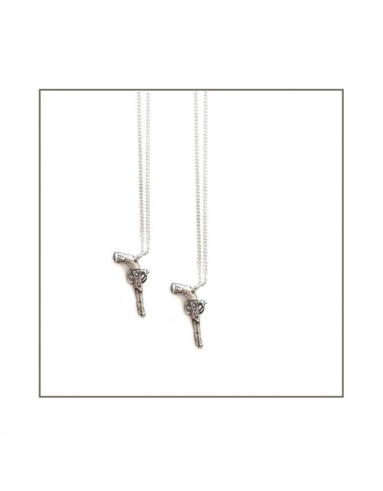 Silver Pistol Pendan- All