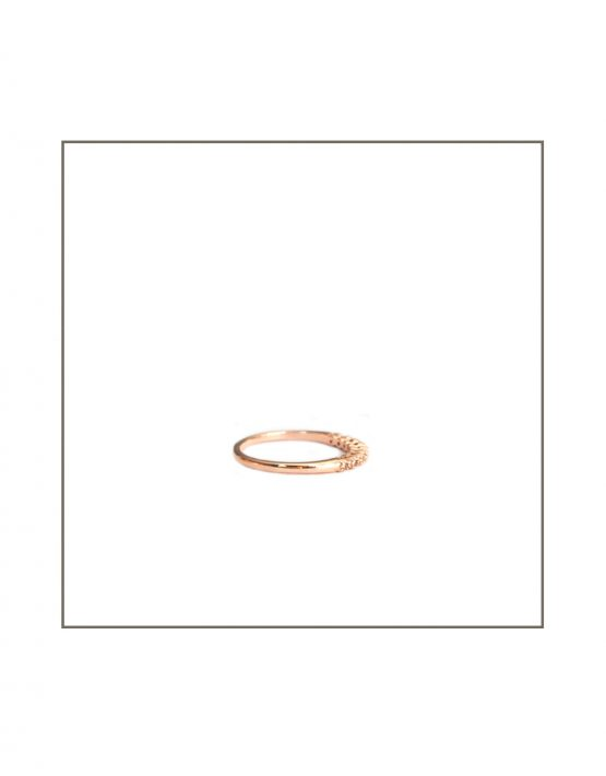 Tube Set Diamond Ring Side