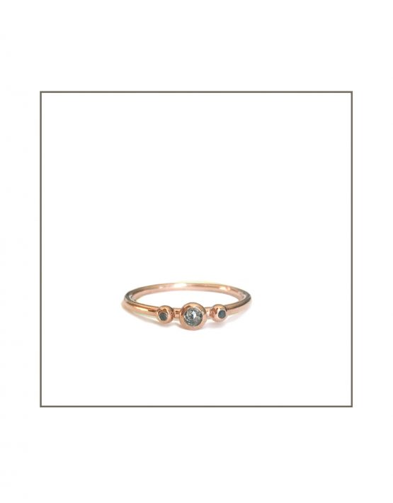 Rose Gold Salt & Pepper Diamond Ring