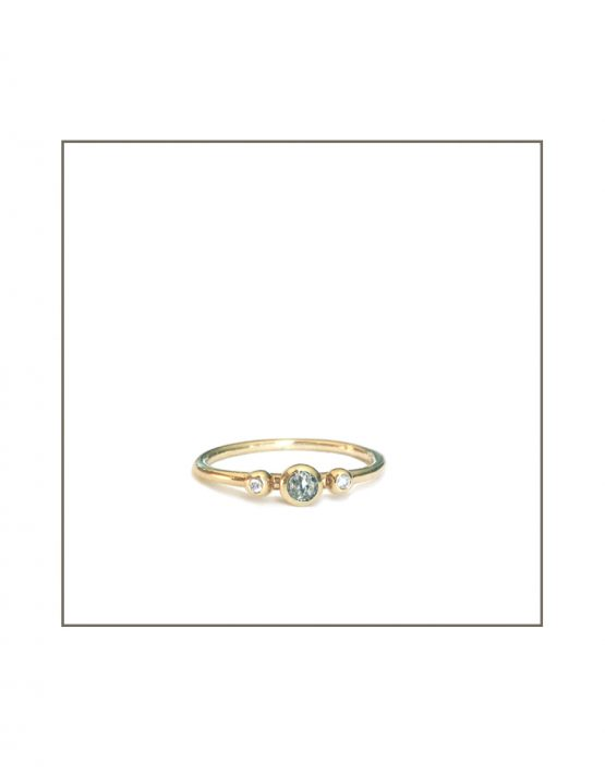 Yellow Gold Salt & Pepper Diamond Ring