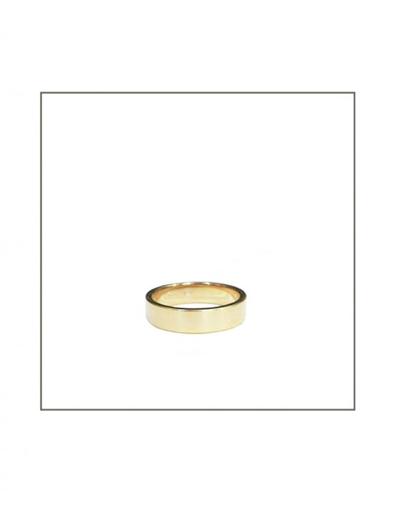 6mm Gents Yellow Gold Flat Wedding Band