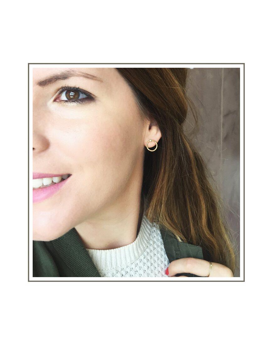 Silver Abbey Hoop Stud Earrings Gold Abbey Hoop Stud Earring Style 3d224a4cc5