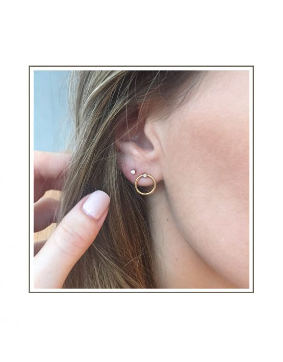 Abbey Hoop And Dainty Stud Earring Styled