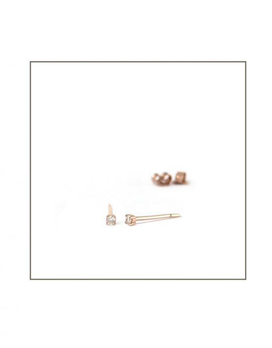 rose gold & diamond small studs