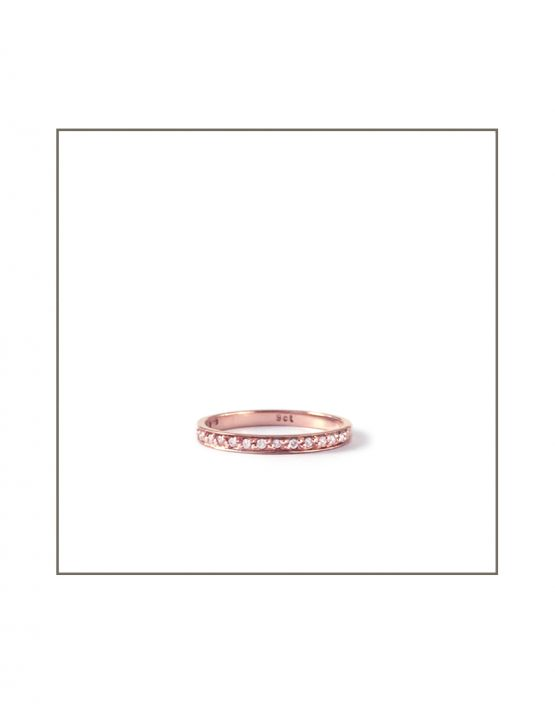0.005ct Rose Gold Pave Band
