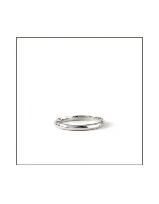 Half Round White Gold Band