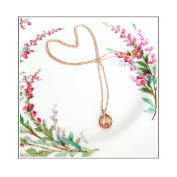 Rose Gold Rutile Quarts Necklace