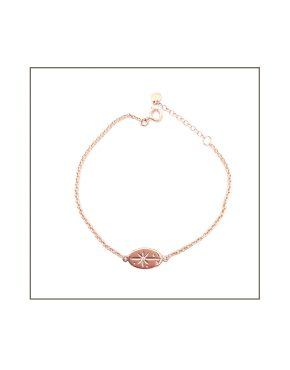 Rose gold north star bracelet