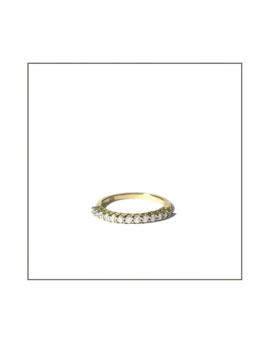 Yellow Gold Gallery Diamobd Band