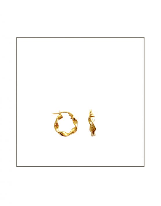 gold hoop twist earring